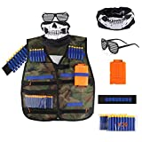 Accmor Kids Tactical Vest Jacket Kit for Nerf Guns N-Strike Elite Series (Camouflage)