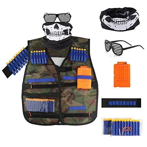 Accmor Kids Tactical Vest Jacket Kit for Nerf Guns N-Strike Elite Series (Camouflage) by Accmor (Image #7)