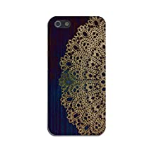 Gold Lace Doily x Dark Blue Wood Design Case for iPhone 6 6 Plus iPhone 5 5s 5c iPhone 4 4s Samsung Galaxy s6 s5 s4 & s3 and Note 4 3 2