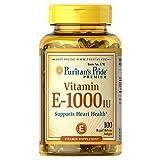 Puritan's Pride Vitamin E 1000 IU Softgels, 100 Rapid Release Softgels