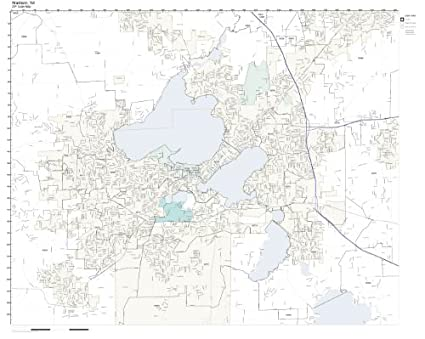 Amazon.com: ZIP Code Wall Map of Madison, WI ZIP Code Map Laminated ...