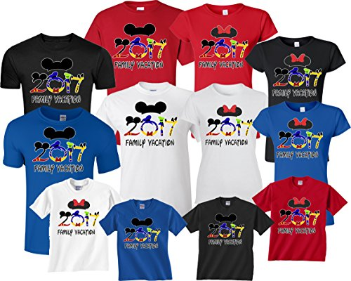 [Disney Family Vacation 2016 T-Shirts Matching T-Shirts (X-Large Adult Mickey, Black)] (Family Disney Shirts)