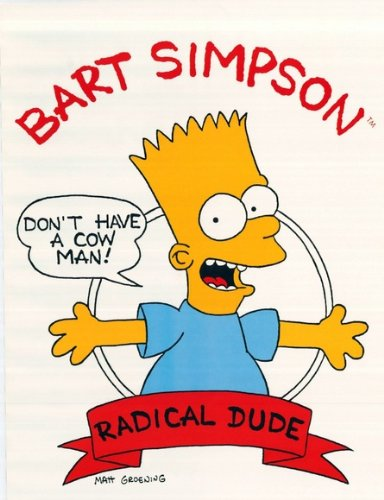 Amazon.com  Radical Dude BART SIMPSON Mint Sealed Poster DON T HAVE ... 716c7bc15