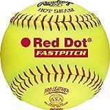 Rawlings Sporting Goods RIF Soft-Dot ASA/NFHS Official Fastpitch Softballs, 12 Count, PX2RYLAH