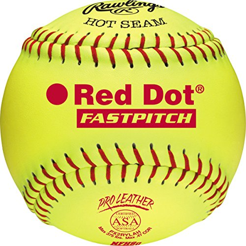Rawlings Sporting Goods RIF Soft-Dot ASA/NFHS Official Fastpitch Softballs, 12 Count, PX2RYLAH