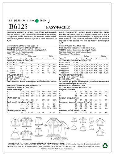 Butterick 18 doll