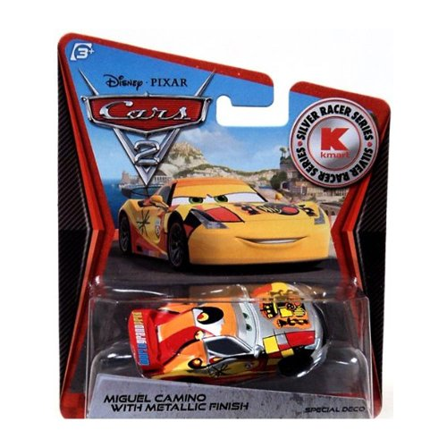 Disney PIXAR Cars 2 Miguel Camino With Metallic Finish Silver Racer Series