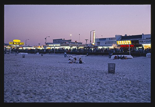 Vintography 8 x 12 Photo Boardwalk from Beach, Seaside Heights, New Jersey 1978 Margolies, John 40a -