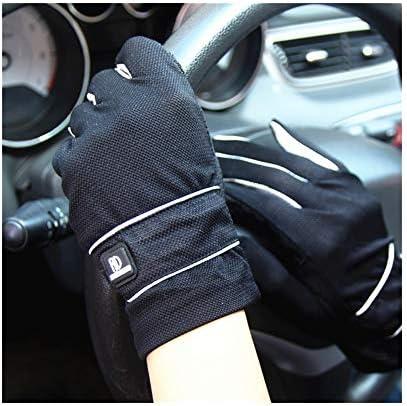 BAJIMI UVカット手袋 手触りが良い ファッション日焼け止め手袋UPF50 +メンズフルフィンガータッチスクリーン通気性滑り止め屋外ドライビンググローブ 夏 ハンド ケア レディース/メンズ (Color : Black-A, Size : One size)
