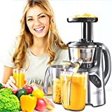 New Age Living SJC-45 Masticating Slow Juicer - 5 Year Warranty - Juice Fruits, Vegetables, Greens, Wheat Grass & More - Make Pro Quality Healthy Juices At Home (GREY)