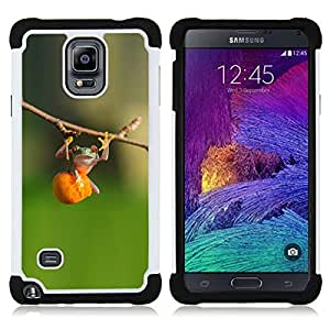 For Samsung Galaxy Note 4 SM-N910 N910 - animal cute green forest fitness Dual Layer caso de Shell HUELGA Impacto pata de cabra con im??genes gr??ficas Steam - Funny Shop -