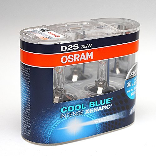OSRAM D2S CBI Cool Blue Intense Xenon HID Headlight Bulbs 5000K (Two Bulbs)