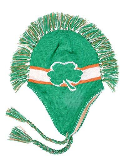 Irish Shamrock Mohawk Winter Beanie