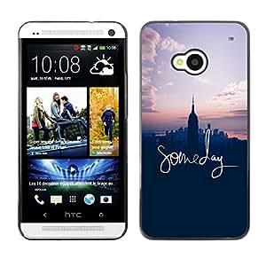 FlareStar Colour Printing Someday Inspirational Nyc American Dream cáscara Funda Case Caso de plástico para HTC One M7