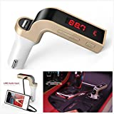 Bluetooth FM Transmitter,Wireless In-Car FM Radio Adapter Car Kit LCD MP3 Player with USB Car Charging Hands-free Calling and Music for iPhone, Samsung, LG, HTC, Nexus, Motorola, Sony Android Smartphone