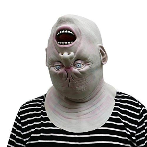 Scary Custumes (Oksale Happy Halloween Reverse Full Head Novelty Scary Costume Party Latex Head Mask (A))