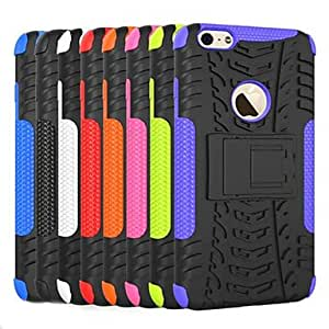 SHOUJIKE 2 in 1 TPU PC Combo Armor Dual Layer Back Cover for iPhone 6 Plus(Assorted Colors) , Black