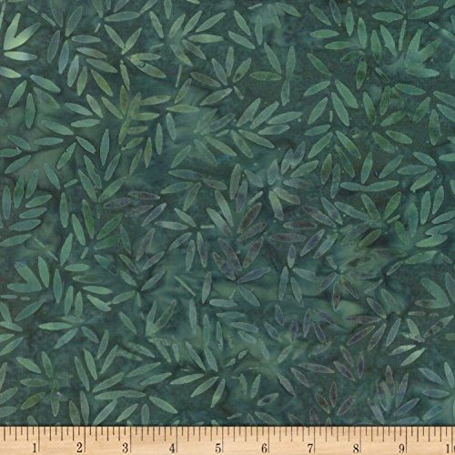 Bamboo Batik (Wilmington Batiks Bamboo Leaves All Over Green Fabric By The Yard)