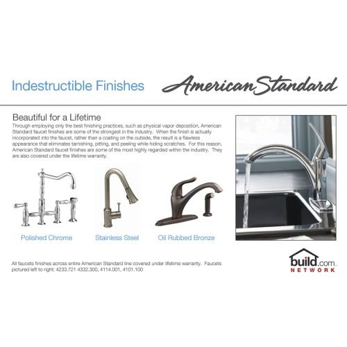 012611268618 - American Standard 7298.252.002 Heritage Wall-Mount 8-Inch Swivel Spout Kitchen Faucet with Porcelain Lever Handles, Chrome carousel main 1