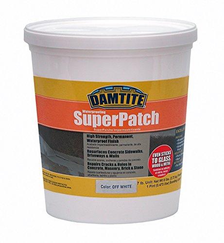 Damtite 04071 Off/White Super Patch Concrete Repair, 7 lb. Pail