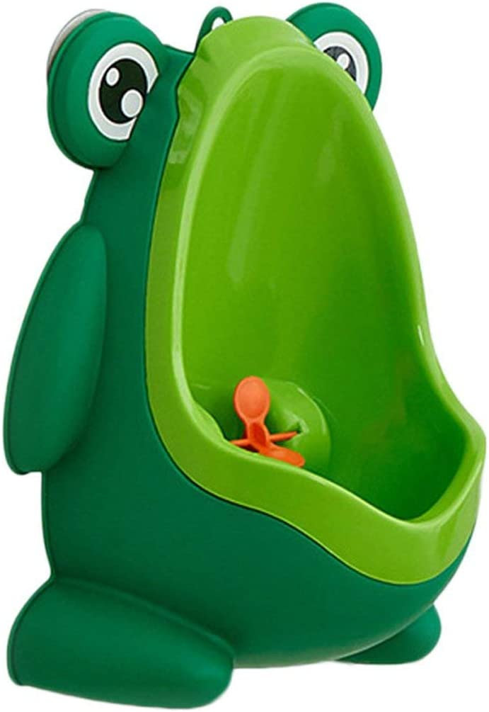 Dynamovolition Portable Ergonomic Children Boy Kids Toilet Training Children Potty Pee Urine Home Bathroom Frog Shape Toilet Urinal