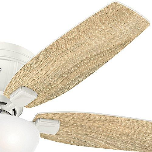 Hunter 53378 Kenbridge 52'' Ceiling Fan with Light, Large, Fresh White by Hunter Fan Company (Image #6)