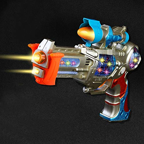 Liberty Imports Galactic Space Police Gun Toy for Kids with Spinning Lights & Blaster Sounds