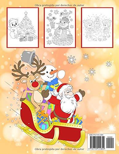 Feliz Navidad: Un libro para colorear para navidad para niños y niñas a partir de 4 años. (Spanish Edition): Libro de Navidad Para Colorear: 9781729112809: ...