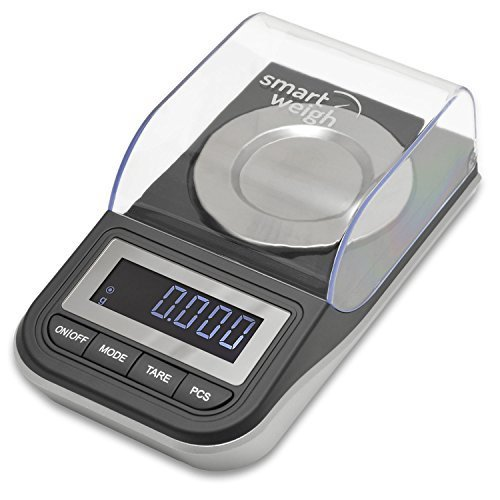 Smart-Weigh-Premium-High-Precision-Digital-Milligram-Scale-with-Case-Tweezers-Calibration-Weights-and-Three-Weighing-Pans-50-x-0001g