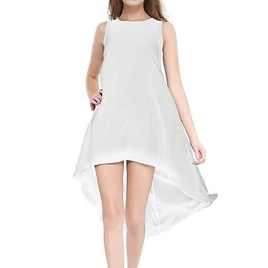 Vestidos Mujer, ASHOP Casual O-Cuello Irregular Sin Mangas ...