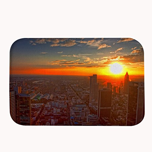 (Zhiqing Beautiful View of Sunset in the city Entrance Rug Indoor Floor Doormat 20