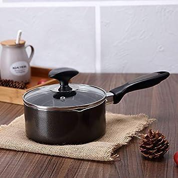Cazo Cacerolas EsmaltePan de leche esmalte olla de leche olla de cerámica cazuela antiadherente manija única ...