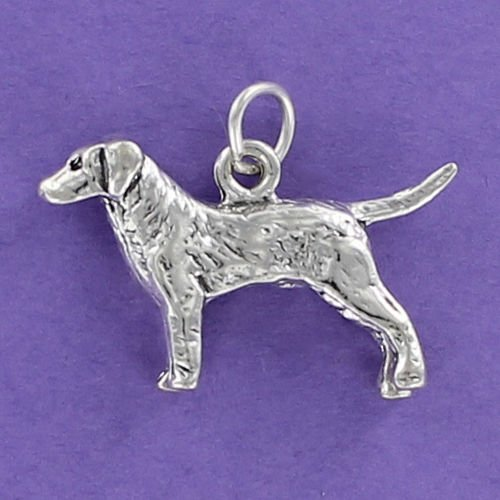 Retriever Dog Charm Sterling Silver for Bracelet Hunting Chesapeake Lab Hunt - Jewelry Accessories Key Chain Bracelets Crafting Bracelet Necklace Pendants ()