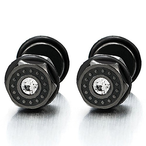Stainless Steel Womens Hexagon Earrings