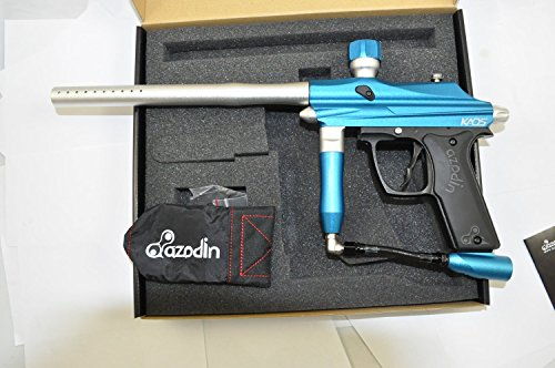 Azodin Kaos Semi-Auto Paintball Marker Gun - Blue/Silver (Neck Rubber Feed)