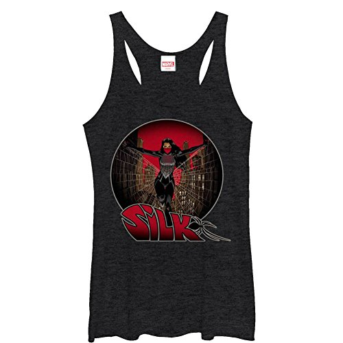 spider-man+tank+tops Products : Spiderman Silk Sphere Juniors Racerback Tank Top