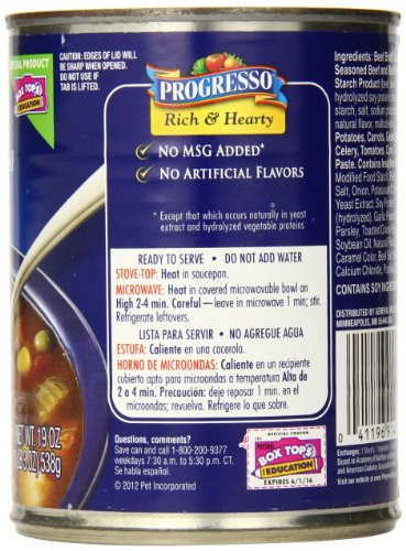 Amazon.com : Progresso Vegetable Classics Soup, Lentil, 19-Ounce (Case of 12)  : Grocery & Gourmet Food
