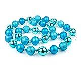 Glitter Mirror Glistening 74'' Turquoise Ball Holiday Garland