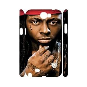 LSQDIY(R) Lil Wayne Samsung Galaxy Note 2 N7100 3D Case Cover, Customized Samsung Galaxy Note 2 N7100 3D Cover Case Lil Wayne