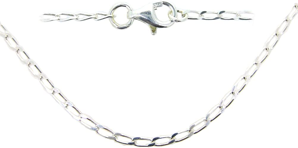 BeadUnion Sterling Silver Flat Circle Necklace Chain 3.5mm Silver Circle Chain Necklace