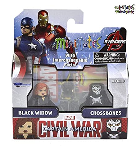 Marvel Minimates Series 67 Civil War Movie Black Widow & Crossbones ,#G14E6GE4R-GE 4-TEW6W206257 (Marvel Minimate Black Widow)
