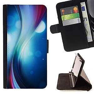 Momo Phone Case / Flip Funda de Cuero Case Cover - Remolino del color;;;;;;;; - Samsung Galaxy S6 Edge Plus / S6 Edge+ G928