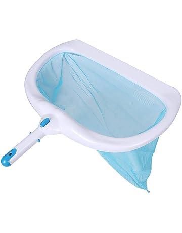 Red de Skimmer de Hojas Ligero Malla Fina Herramienta de Limpieza para Ba/ñera Estanque Piscinas Skimmer de Piscina de Arena Azul Borde Liso Durable F/ácil de Usar Rastrillo de Piscina