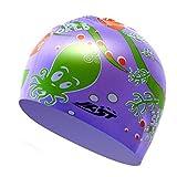 Kylin Express Fun Swimming Cap for Kids & Toddlers -Kids Swim Cap Cloth Swimwear Hair & Ear Protector,N