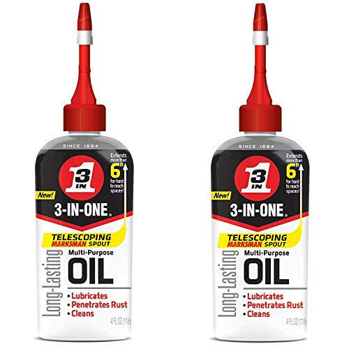 3-IN-ONE Multi-Purpose Oil with Telescoping Marksman Spout, 4 OZ (2 – Pack)