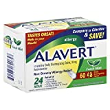 Alavert 24 Hour Allergy Relief - Non-Drowsy - Loratadine 10 mg - 72 Tablets