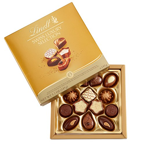 Luxury Chocolate Truffles - Lindt Swiss Luxury Selection, Assorted Chocolate, 5.1 Ounce Box