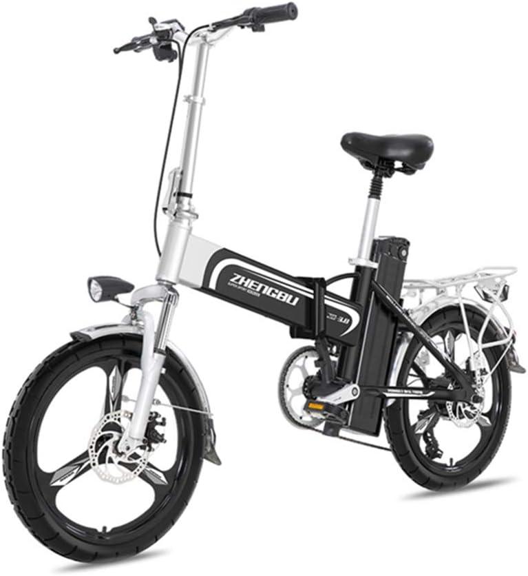 ZBB Bicicleta eléctrica Ligera y Plegable, 16 Pulgadas Ruedas ...