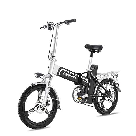 ZBB Bicicleta eléctrica Ligera y Plegable, 16 Pulgadas ...