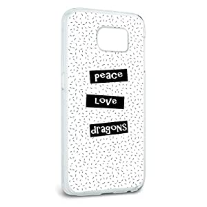 Peace Love Dragons Snap On Hard Protective Case for Samsung Galaxy S6